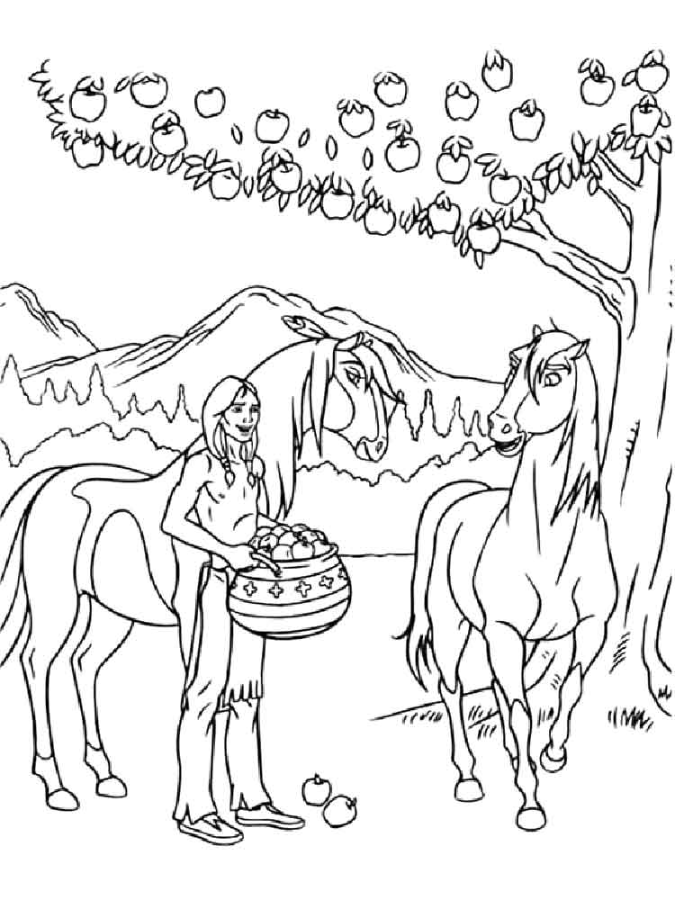 750x1000 Spirit Coloring Pages Free Printable Spirit Coloring Pages