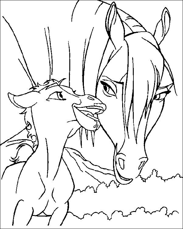 602x752 Coloring Pages Spirit The Wild Horse