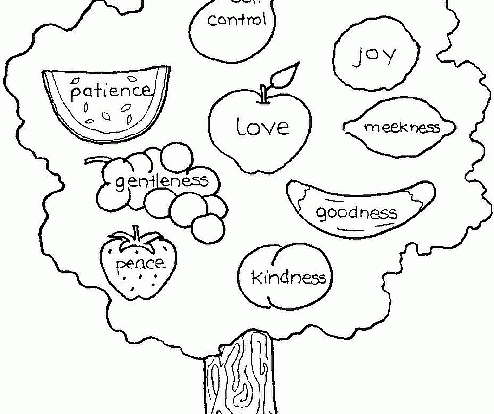 1007x845 Unusual Holy Spirit Coloring Page Fruit