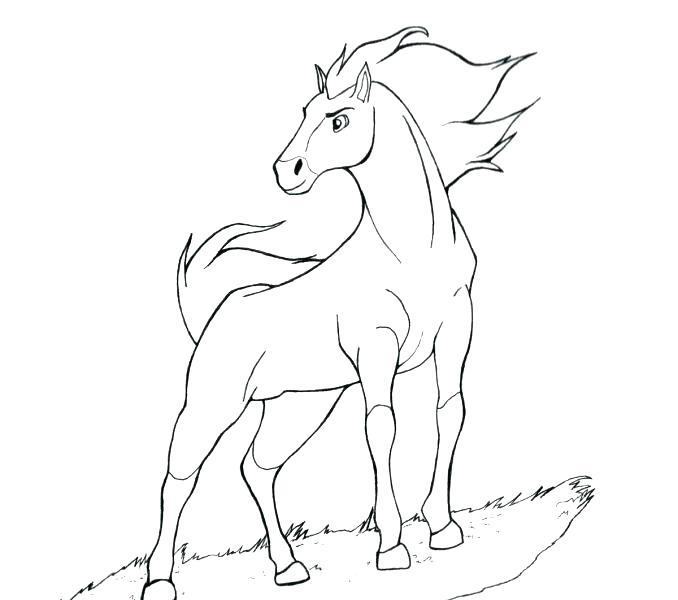 678x600 Spirit Stallion Of The Cimarron Coloring Pages Online Spirit