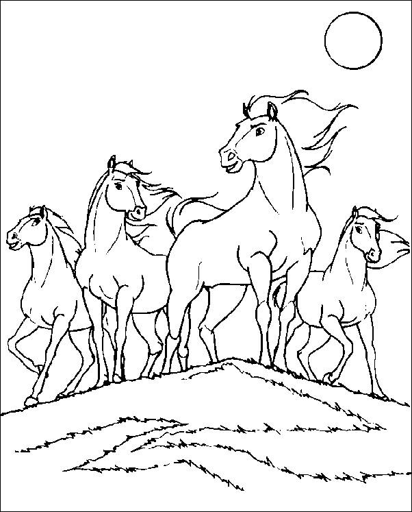 602x747 Coloring Pages Spirit The Wild Horse