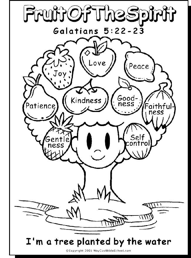 650x880 Fruit Of The Spirit Coloring Pages