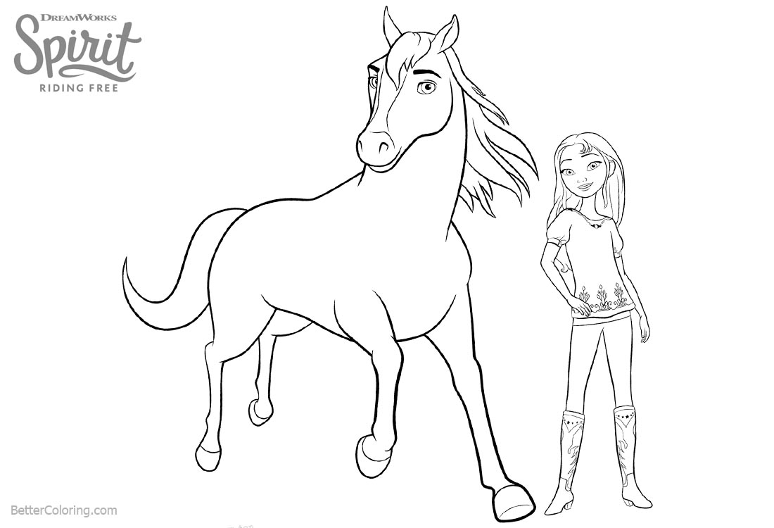 Spirit Riding Free Coloring Pages at GetDrawings | Free ...