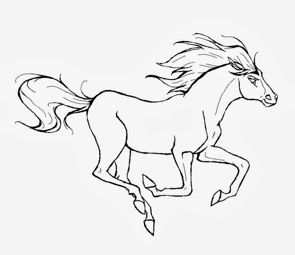 960x832 Spirit Coloring Pages With Horse Printable Within
