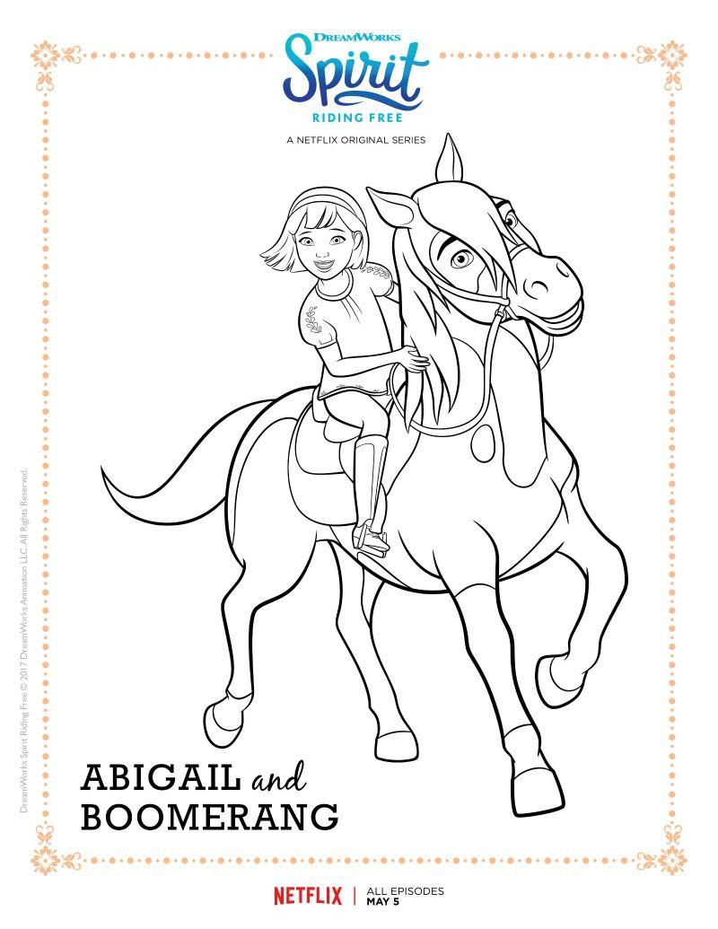 800x1035 Spirit Riding Free Abigail And Boomerang Coloring Page Spirit