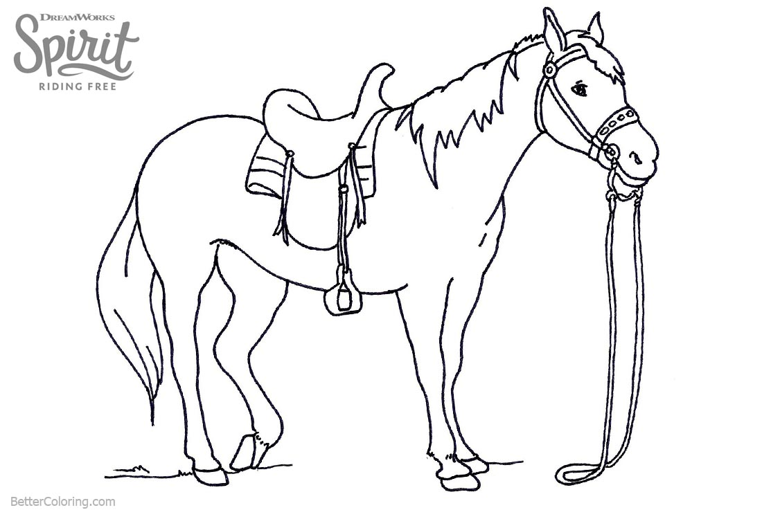1100x750 Spirit Riding Free Coloring Pages Lineart