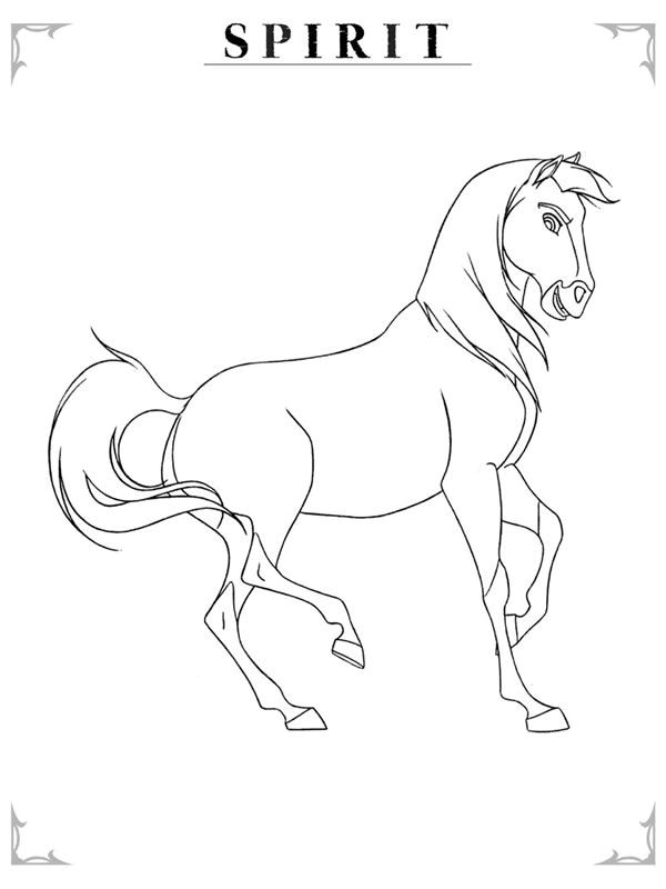 600x800 Spirit The Horse To Print Horse, Drawings