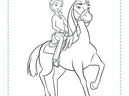 440x330 Stallion Coloring Pages Spirit Riding Free And Coloring Page