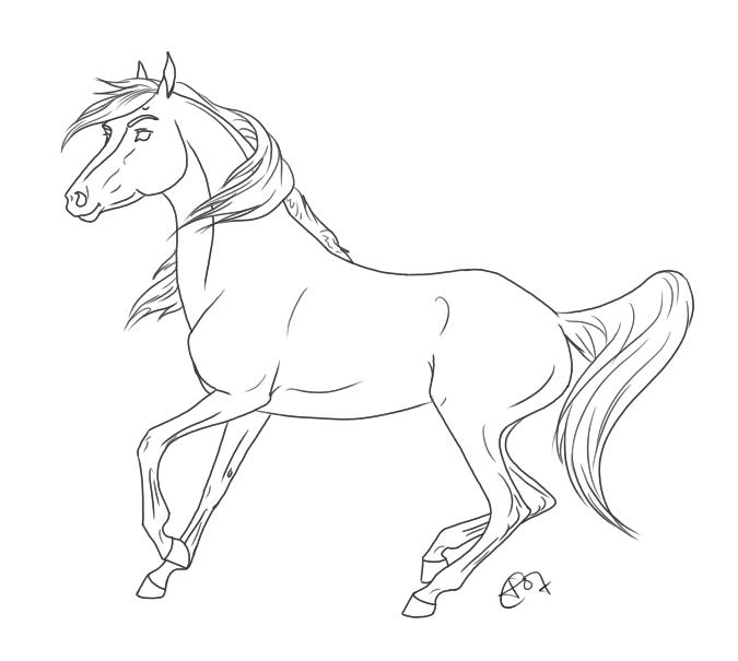 675x605 Spirit And Rain Coloring Stallion Cimarron Pages