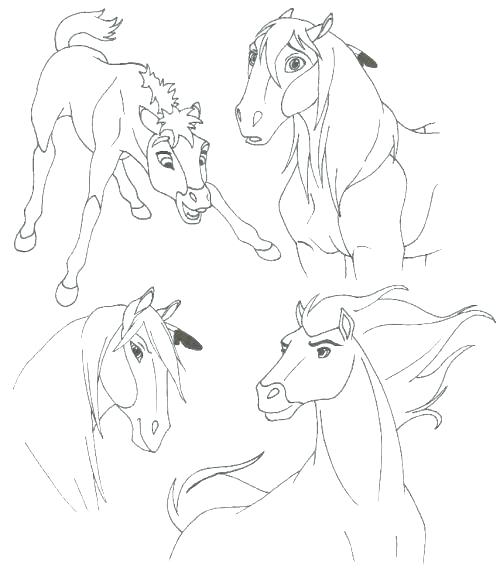 500x572 Spirit Stallion Of The Cimarron Coloring Pages Awesome Spirit