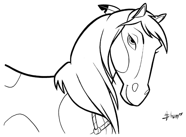 642x473 Spirit The Horse Coloring Pages