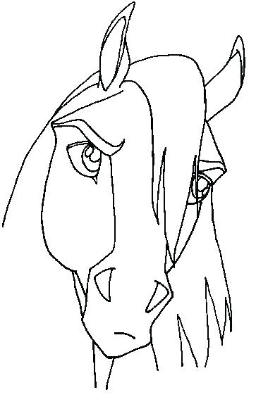 363x564 Stallion Coloring Pages Horse Coloring Pages To Print Spirit