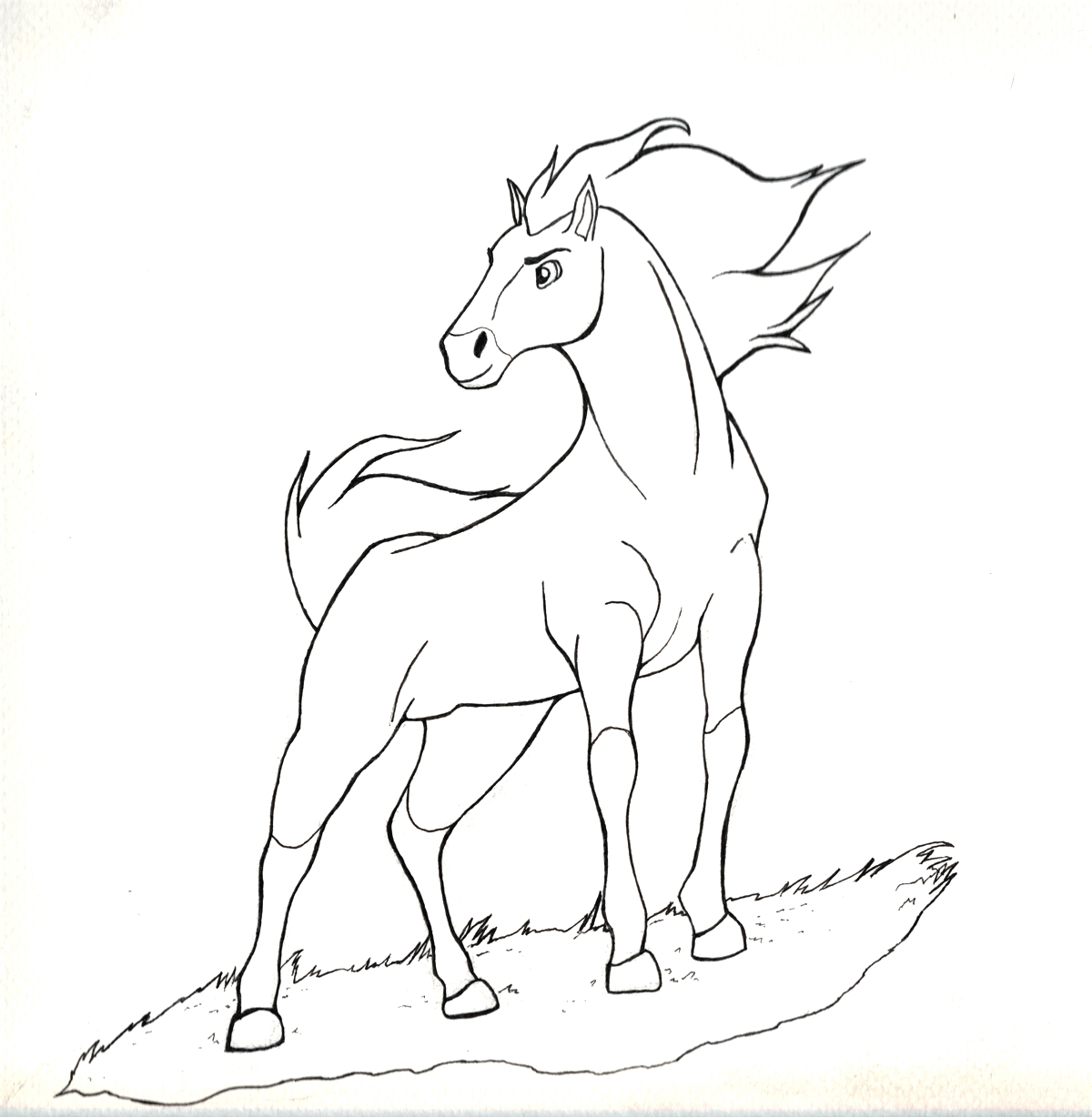 1200x1228 Awesome Spirit Stallion Of The Cimarron Animation Coloring Pages