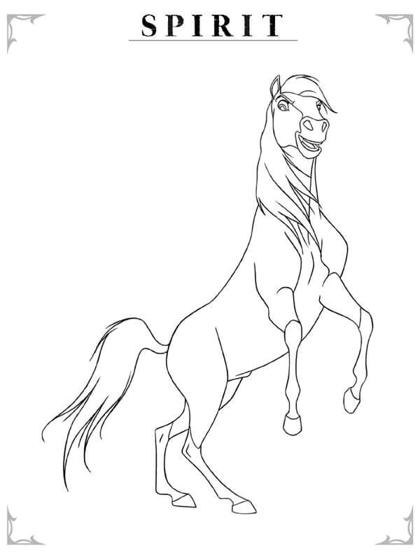 Spirit The Movie Coloring Pages