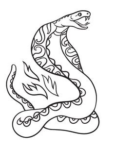 236x305 Beautiful Cobra Coloring Page