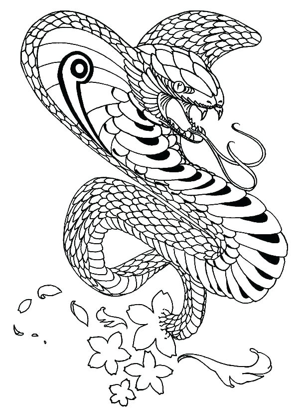600x817 King Cobra Coloring Pages Appealing King Cobra Coloring Pages Best