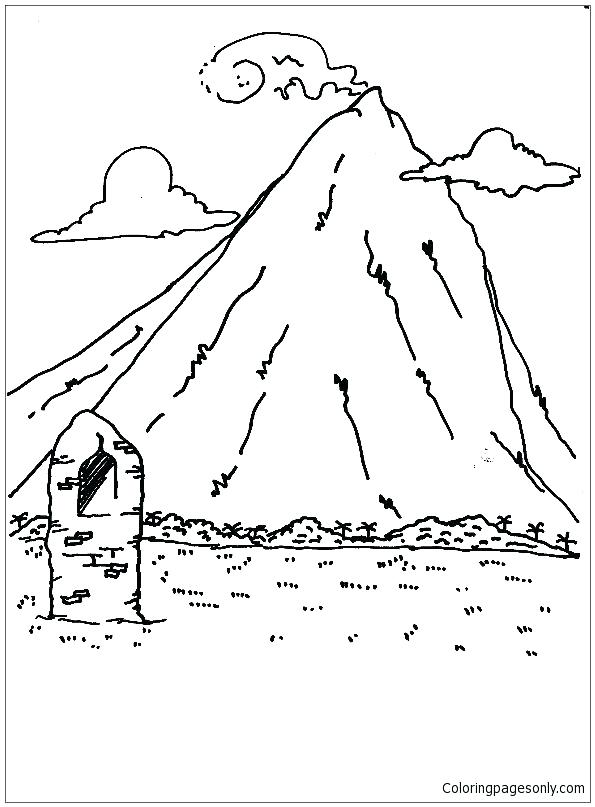 595x807 Mountain Coloring Page Coloring Pages Of Mountains High Mountains