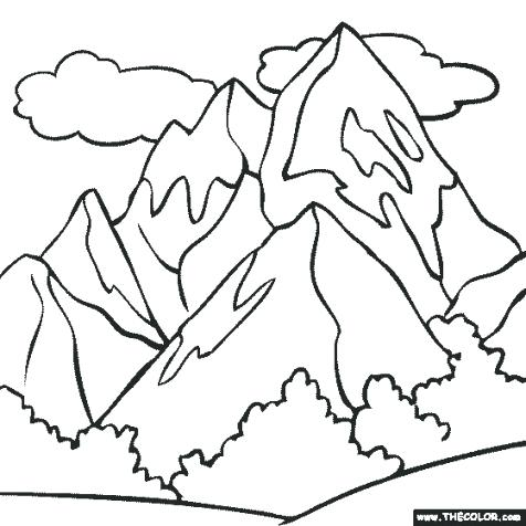 476x476 Mountain Coloring Page Mountain Coloring Pictures Printable