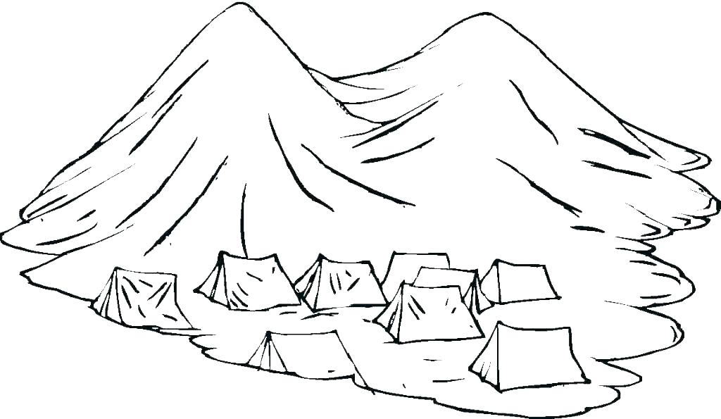 1024x595 Mountain Coloring Page Related Post Mountain Goat Colouring Pages