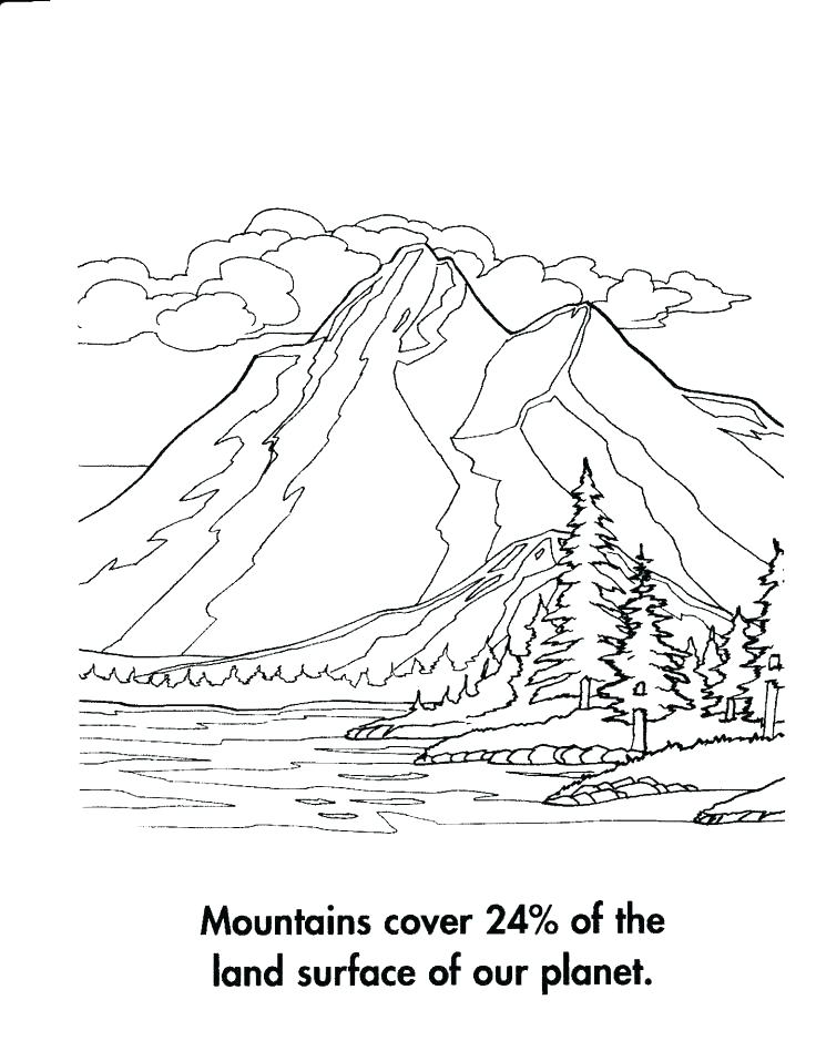 736x948 Mountain Coloring Page Splash Mountain Coloring Page Mountain Lion