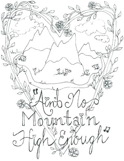 400x518 Coloring Pages Of Mountains Mountain Coloring Page Mountains Pin