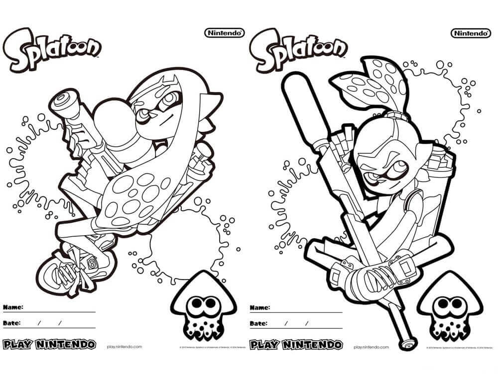 Splatoon 2 Coloring Pages