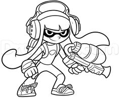 Splatoon 2 Coloring Pages At Getdrawings Com Free For