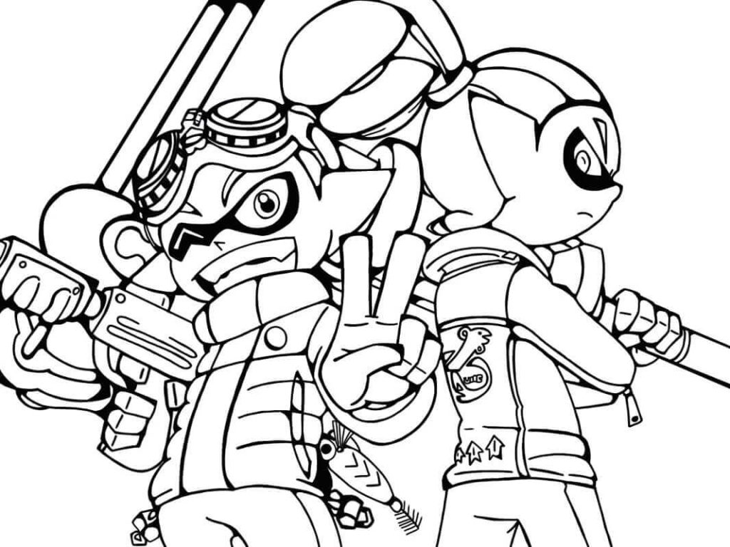 The Best Free Splatoon Coloring Page Images Download From