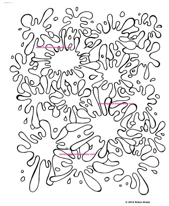 Splatter Coloring Pages