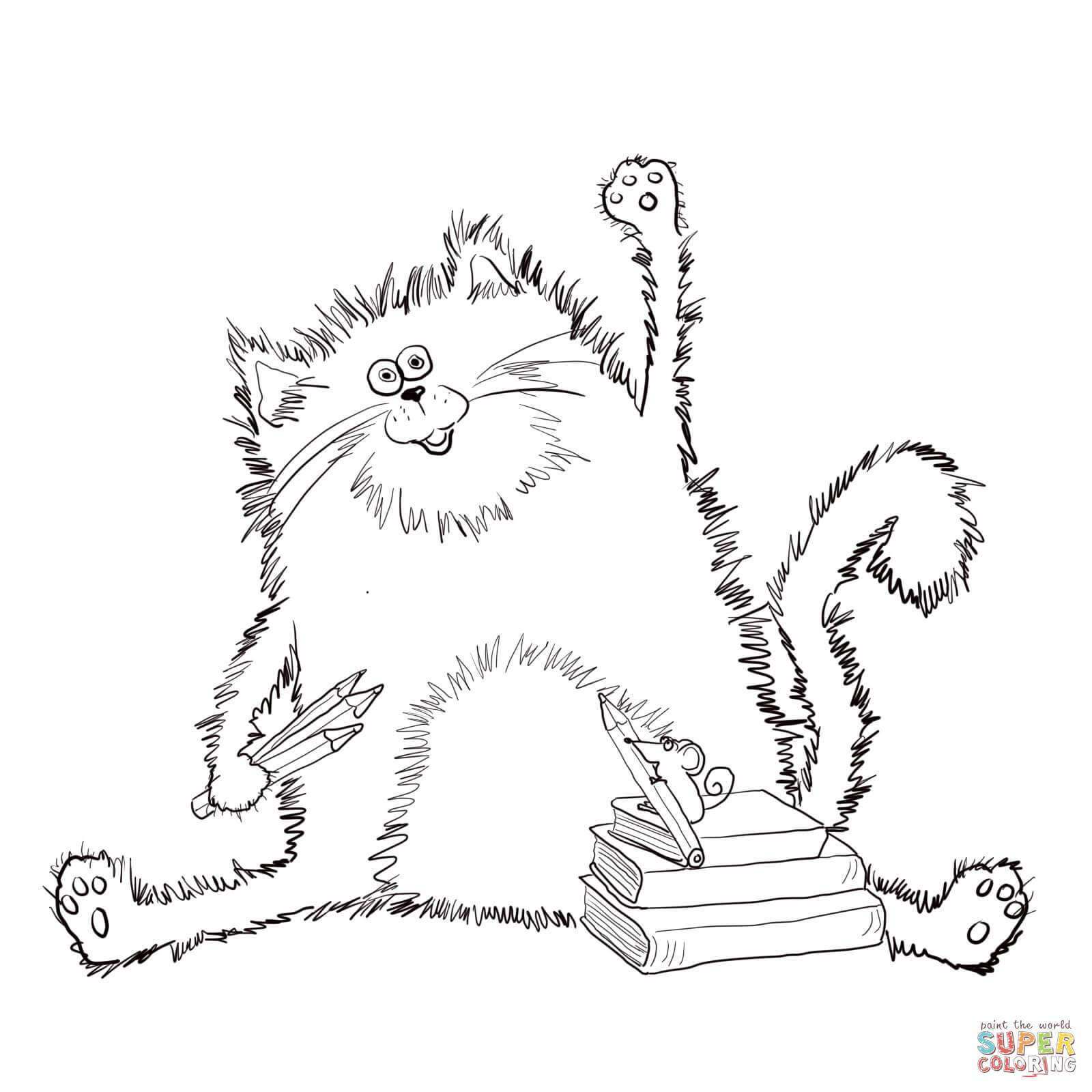 1600x1600 Amazing Splat The Cat Coloring Page Printable Image For Book