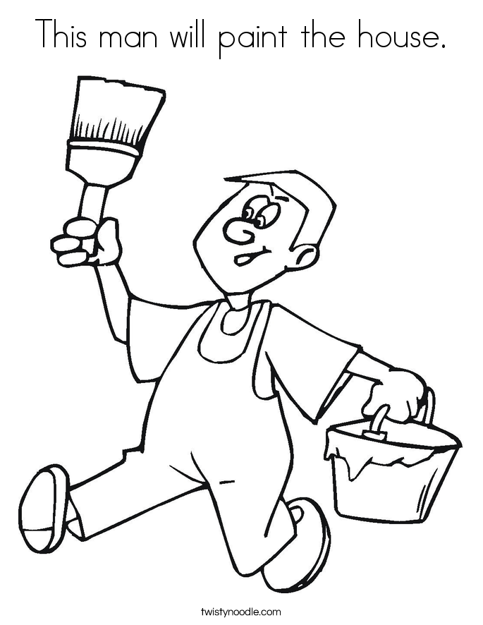 685x886 This Man Will Paint The House Coloring Page