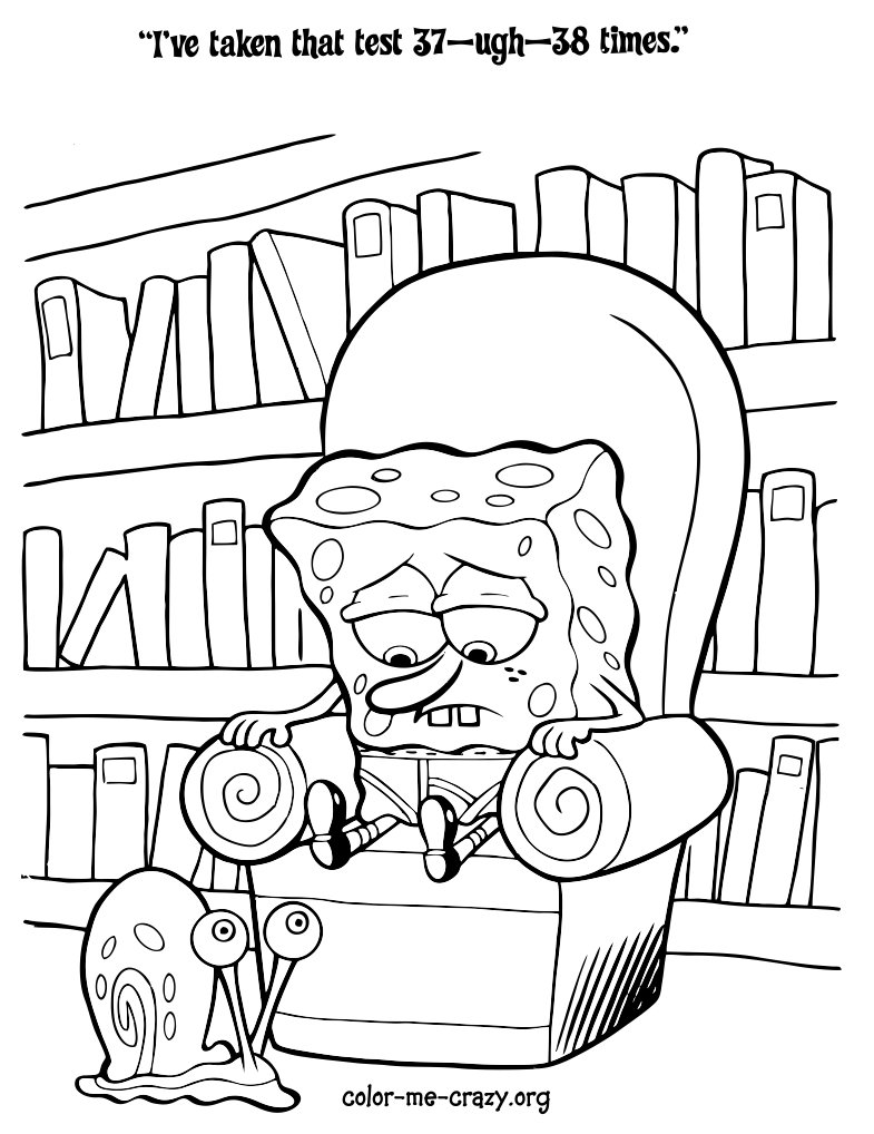 Sponge Bob Halloween Coloring Pages at GetDrawings.com | Free for ...