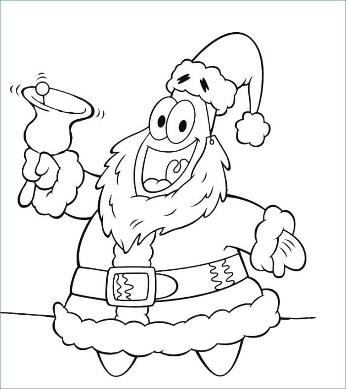 700x787 Spongebob Squarepants Christmas Santa Coloring Page