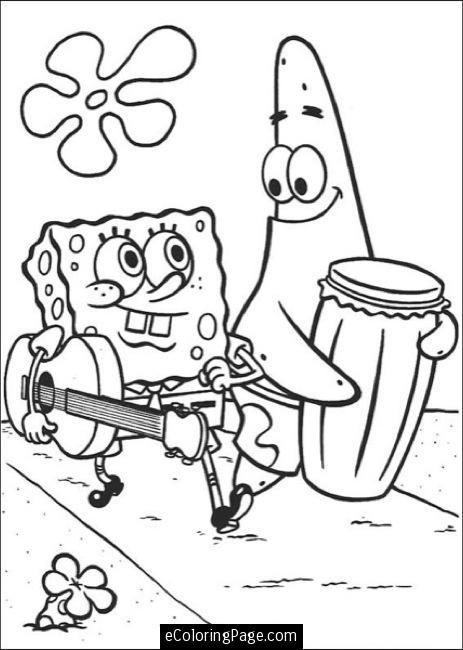 463x650 Spongebob Patrick Walking Printable Coloring Page Coloring Pages