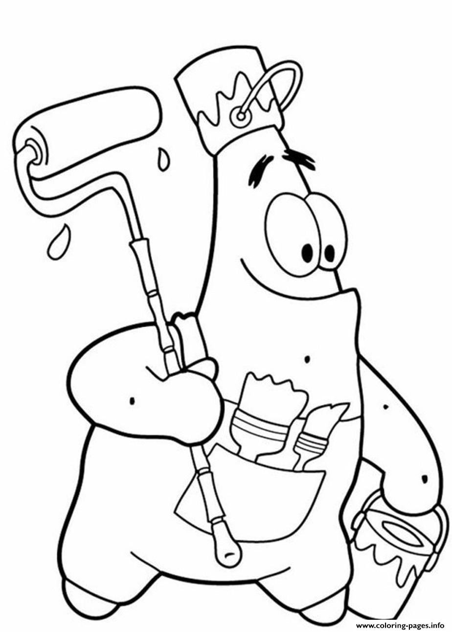 924x1291 Funny Patrick Star S Spongebob Coloring Pages