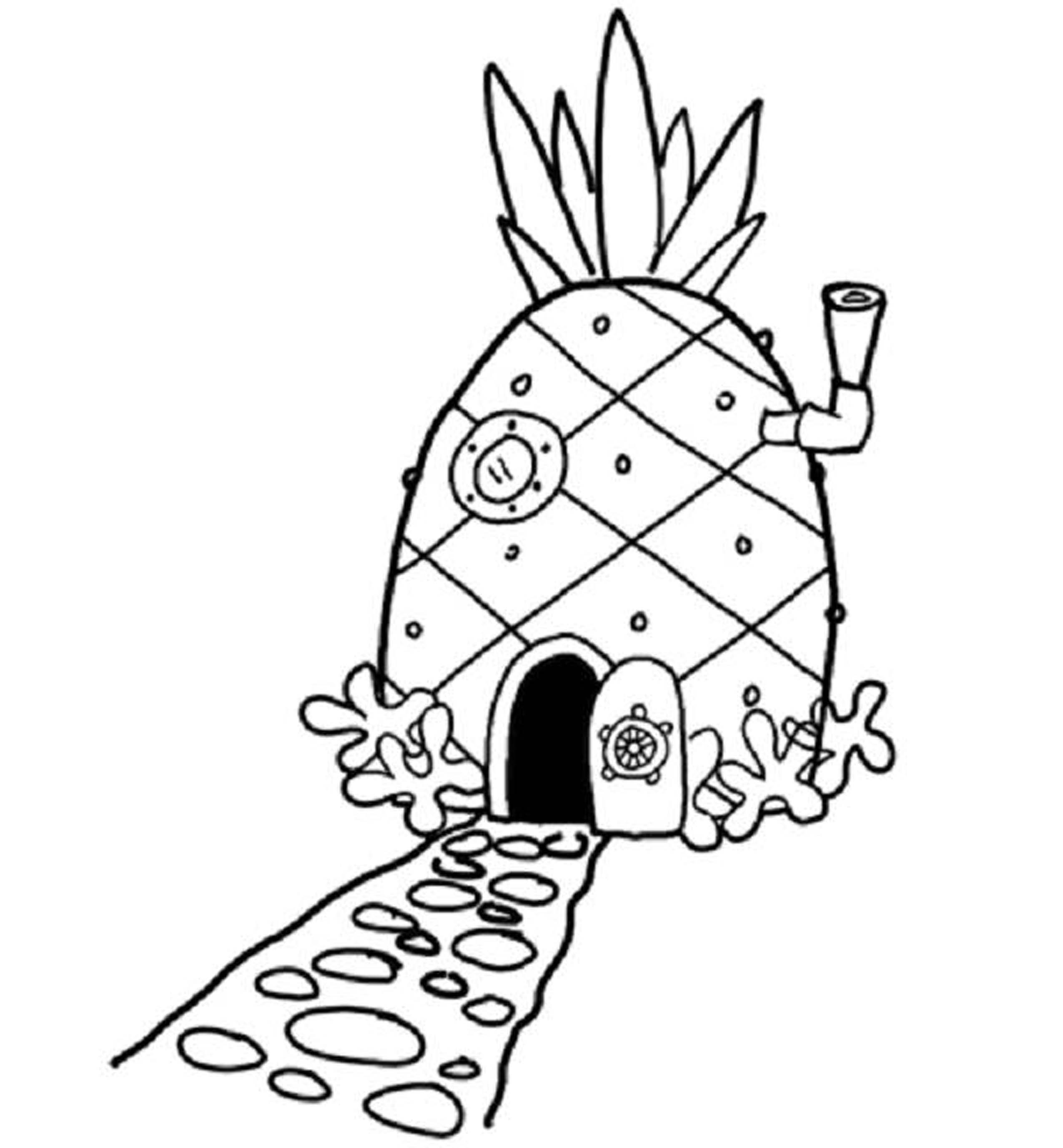 2550x2754 Spongebob Coloring Page Patrick Squidward Pages Printable Online