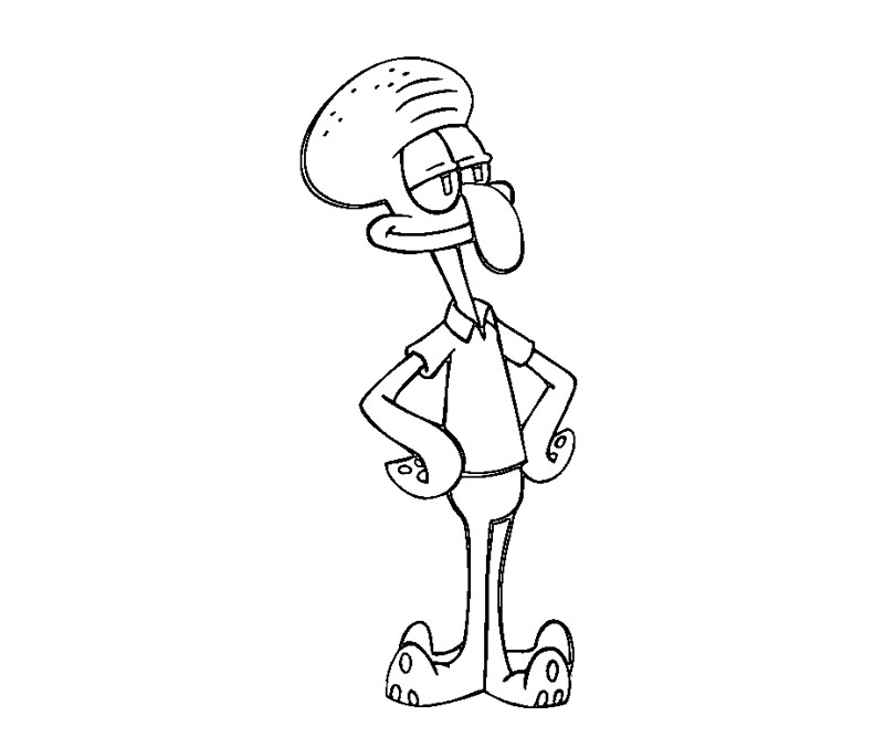 800x667 Spongebob Squarepants Character Squidward Coloring Pages Barriee