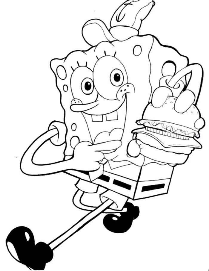 700x905 Free Spongebob Coloring Pages For Kids Kidstuff Free