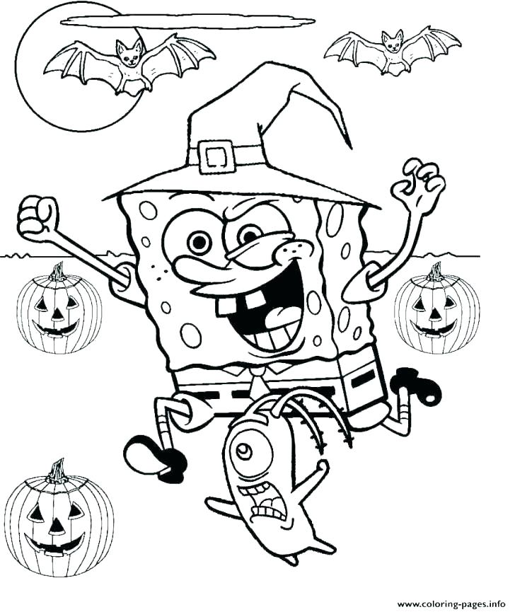 728x865 Spongebob Halloween Coloring Pages Coloring Pages Coloring Pages