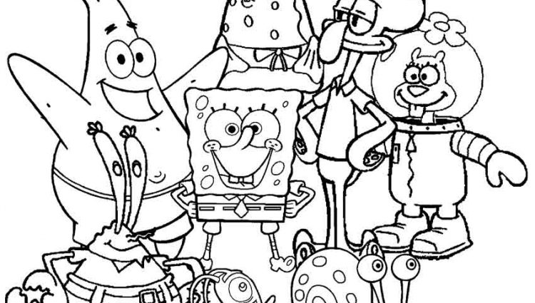 750x425 Spongebob Coloring Pages Free Fascinating Spongebob Printable