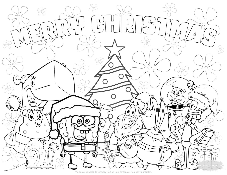 Spongebob Christmas Coloring Pages at GetDrawings   Free ...