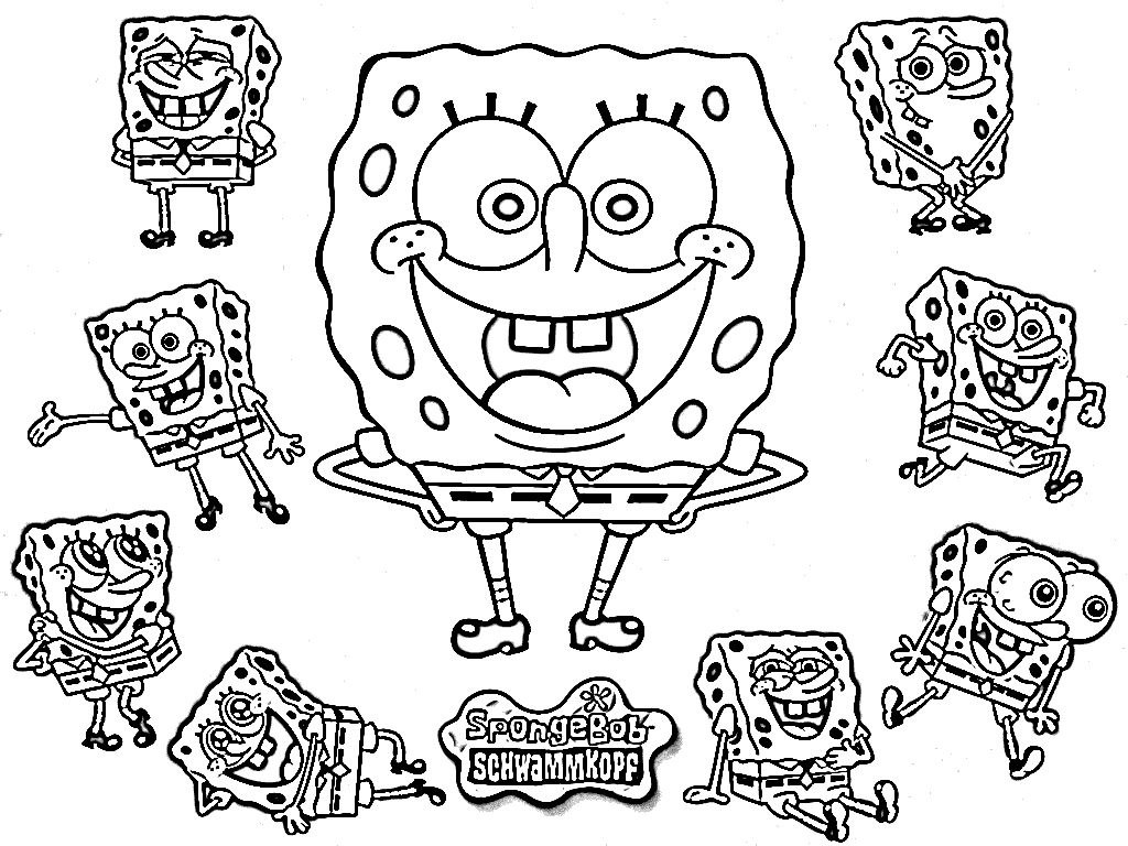 1024x768 Intricate Spongebob Coloring Pages Games Squarepants