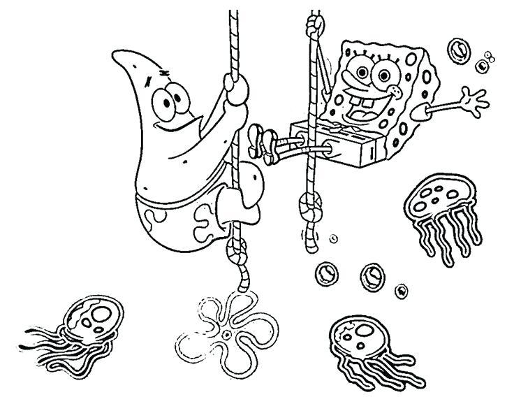 736x588 Spongebob Coloring Pages Pdf Free Printable Valentines