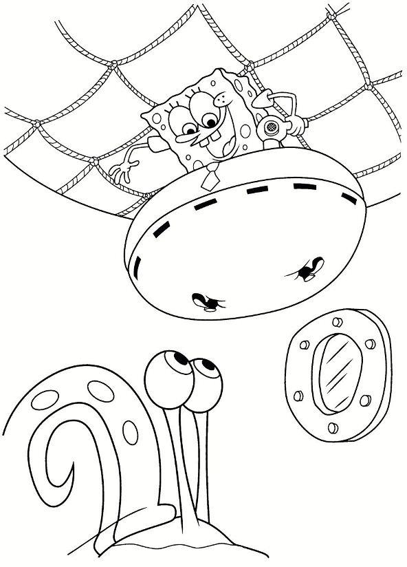 592x824 Kids N Coloring Pages Of Spongebob Squarepants