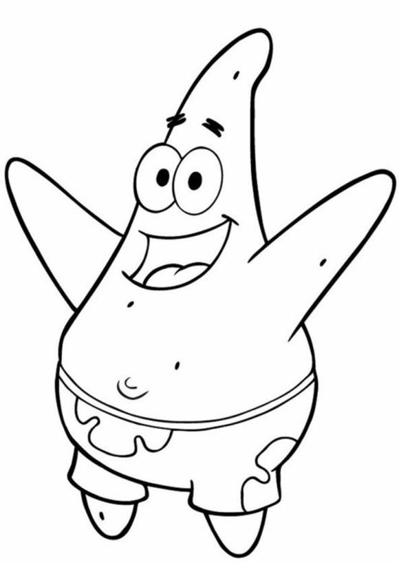 580x818 Spongebob Patrick Coloring Pages