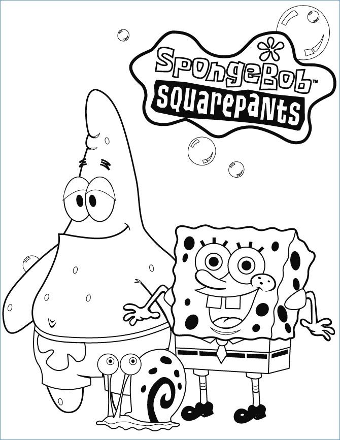 670x867 Spongebob Squarepants Smiling Coloring Page