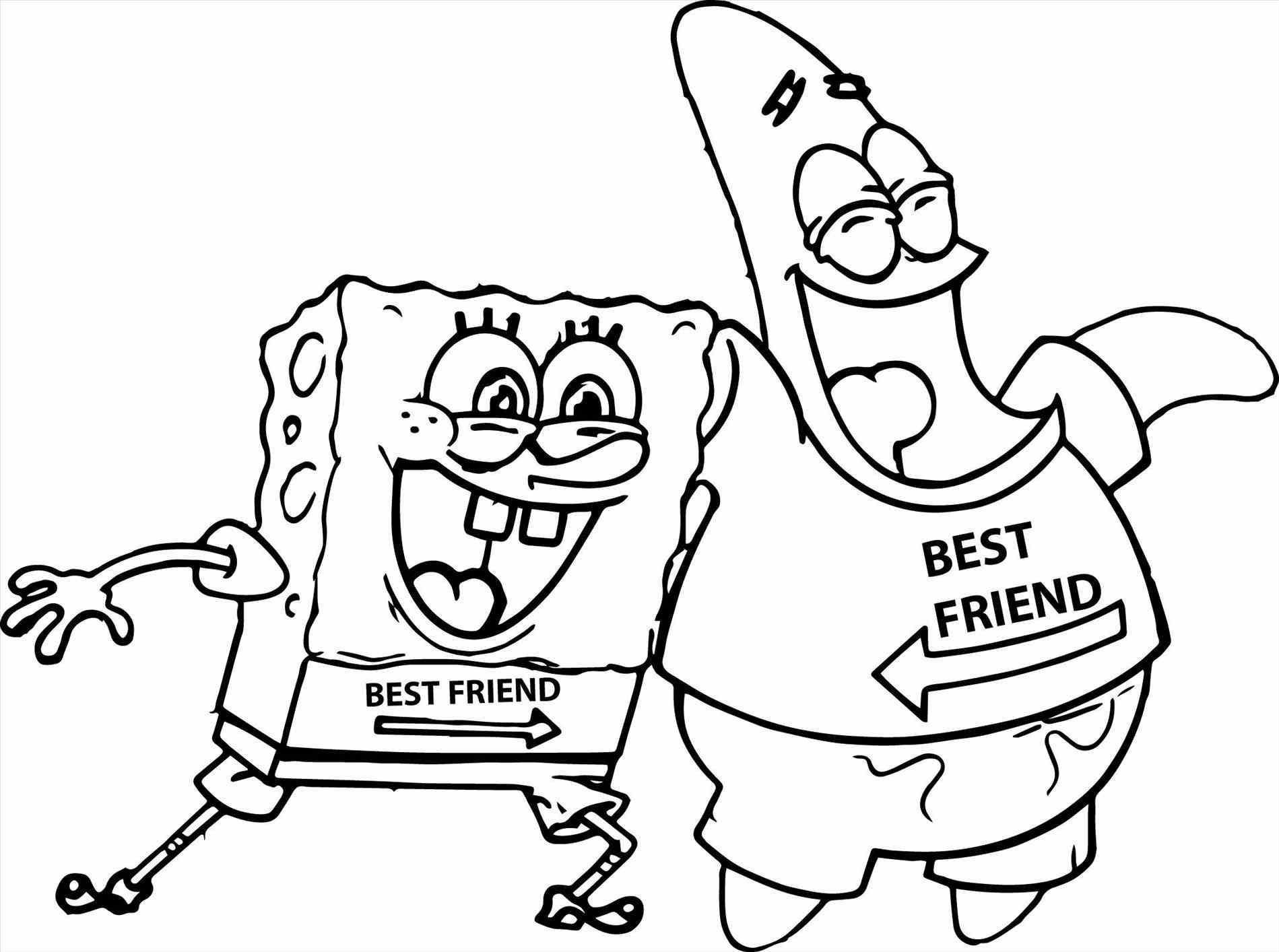 1899x1414 Coloring Pages Spongebob And Patrick Free Free Coloring Sheets