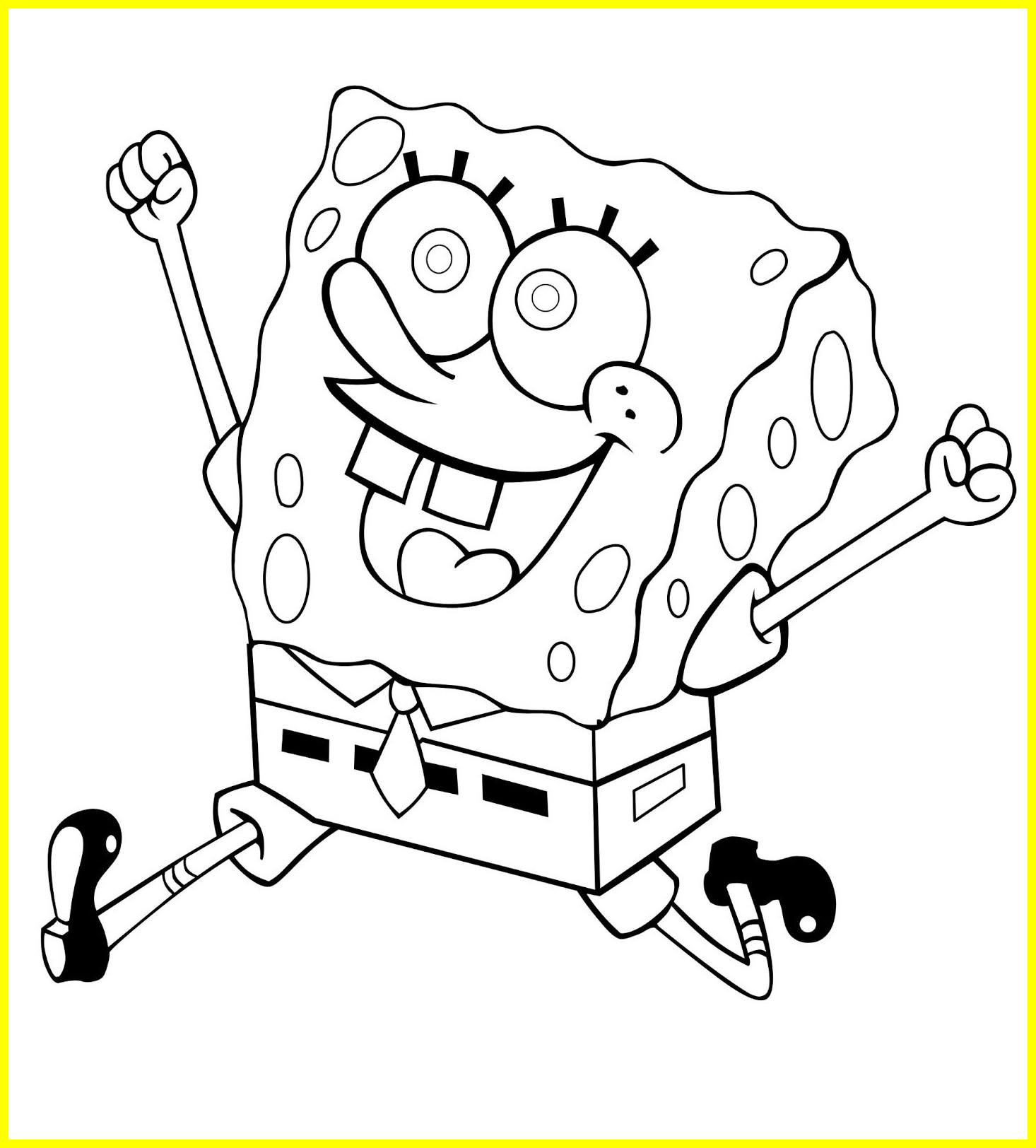 Spongebob Squarepants Coloring Pages Free at GetDrawings.com ...