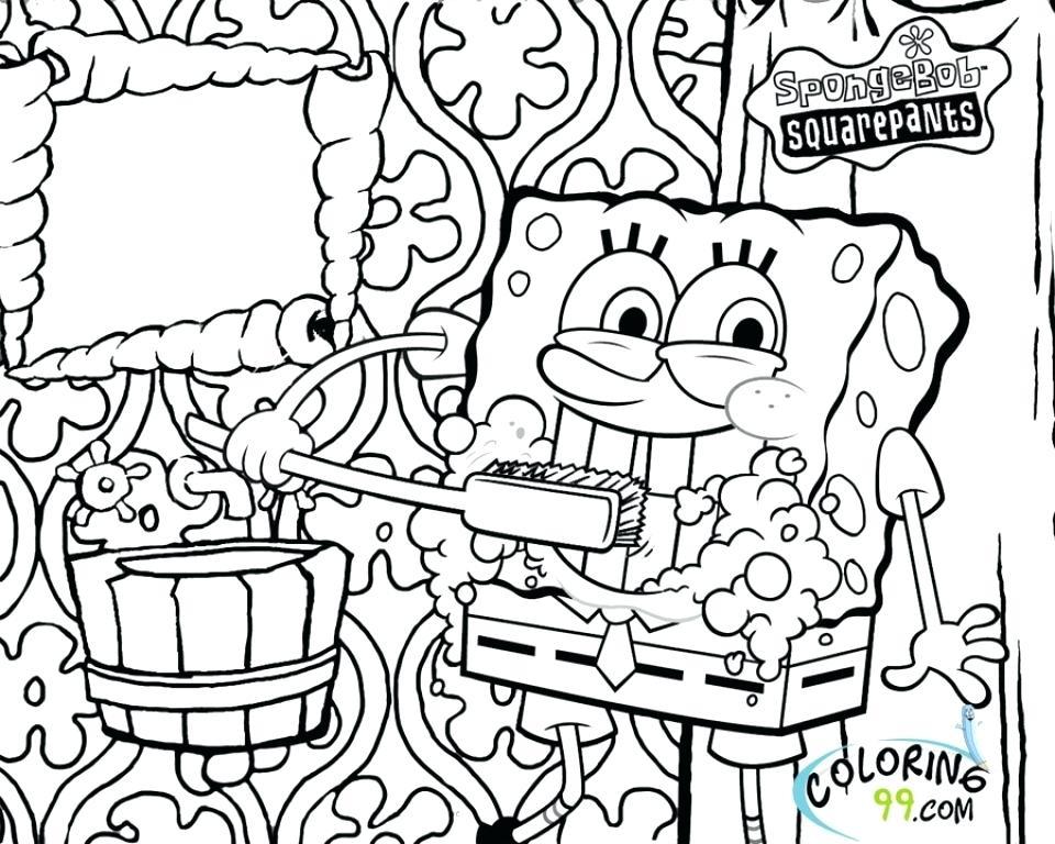 960x768 Sponge Bob Square Pants Coloring Pages