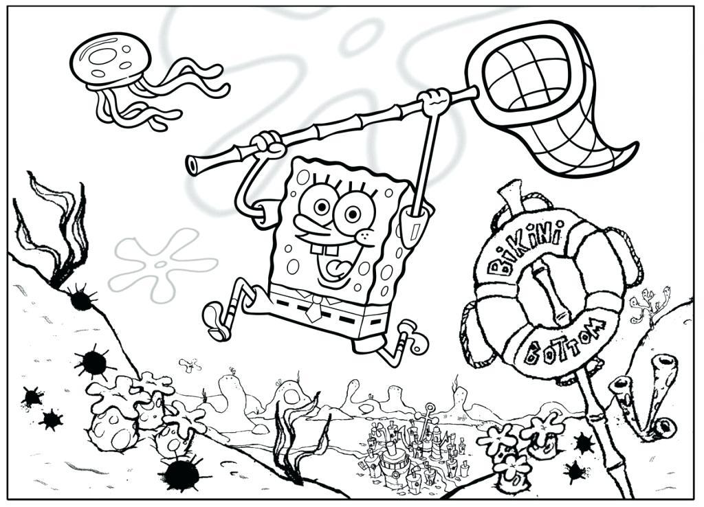 Spongebob Squarepants Coloring Pages To Print at GetDrawings.com ...